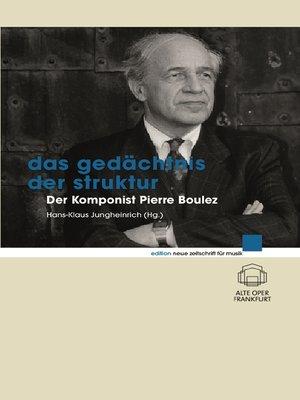cover image of Das Gedächtnis der Struktur