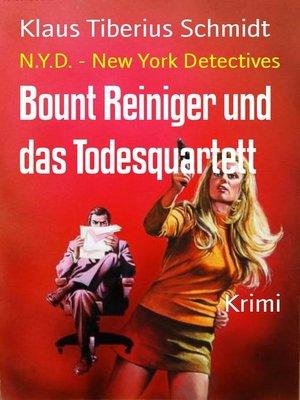 cover image of Bount Reiniger und das Todesquartett