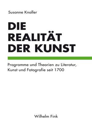 cover image of Die Realität der Kunst
