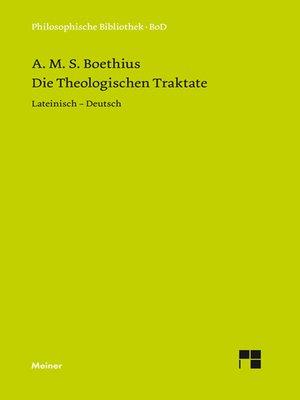 cover image of Die theologischen Traktate