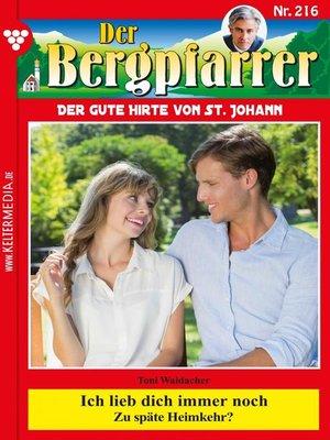 cover image of Der Bergpfarrer 216 – Heimatroman