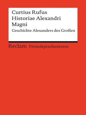 cover image of Historiae Alexandri Magni