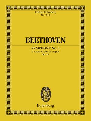 cover image of Symphony No. 1 C major