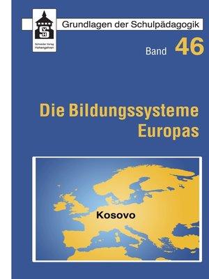 cover image of Die Bildungssysteme Europas--Kosovo