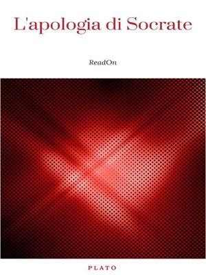 cover image of L'apologia di Socrate