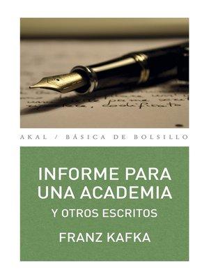 cover image of Informe para una academia