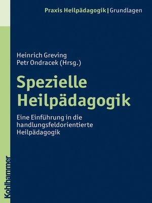 cover image of Spezielle Heilpädagogik