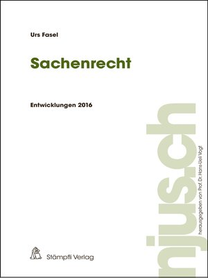 cover image of Sachenrecht