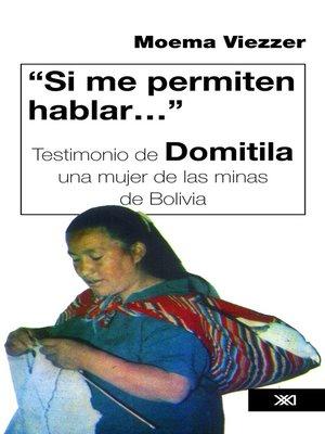 """cover image of """"Si me permiten hablar..."""""""