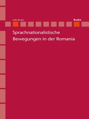 cover image of Sprachnationalistische Bewegungen in der Romania