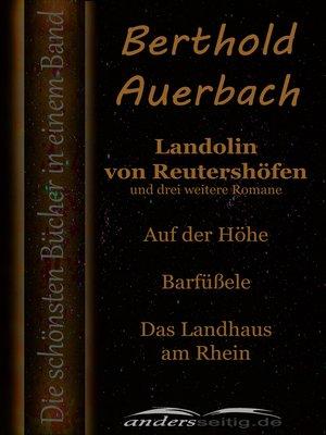 cover image of Landolin von Reutershöfen und drei weitere Romane