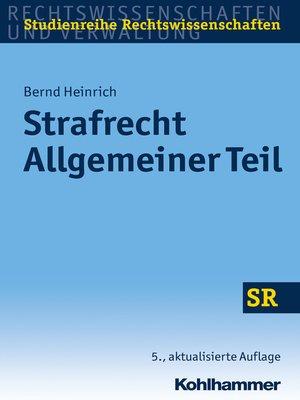 cover image of Strafrecht Allgemeiner Teil