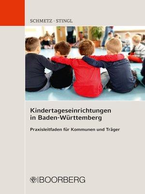 cover image of Kindertageseinrichtungen in Baden-Württemberg