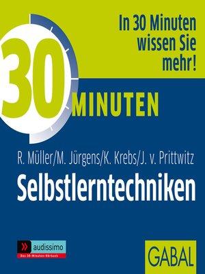 cover image of 30 Minuten Selbstlerntechniken
