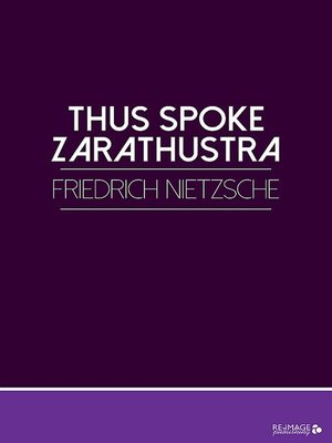 cover image of Thus Spoke Zarathustra