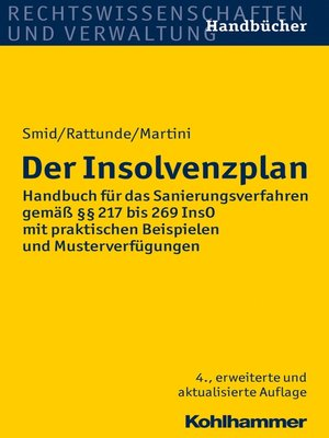 cover image of Der Insolvenzplan