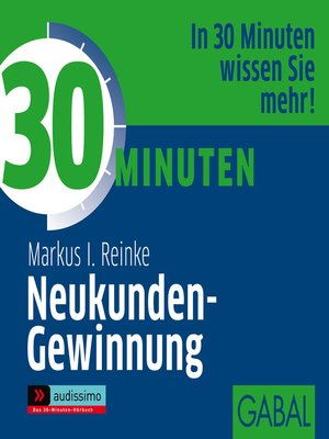 cover image of 30 Minuten Neukunden-Gewinnung