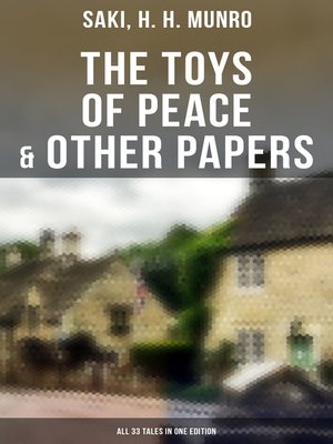 cover image of The Toys of Peace & Other Papers