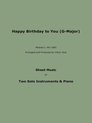 cover image of Happy Birthday to You (Trio G-Major)