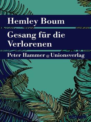 cover image of Gesang für die Verlorenen