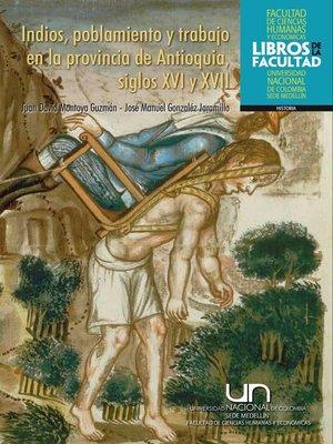 cover image of Indios, poblamiento y trabajo en la provincia de Antioquia, siglos XVI y XVII