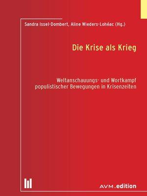 cover image of Die Krise als Krieg