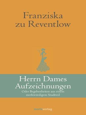 cover image of Herrn Dames Aufzeichnungen