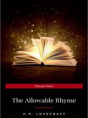 cover image of The Allowable Rhyme