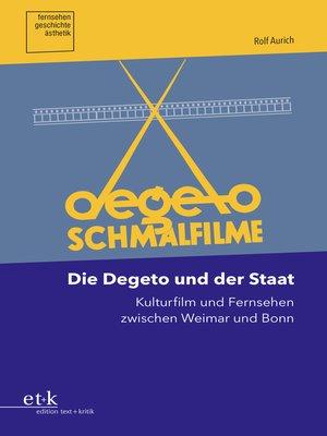 cover image of Die Degeto und der Staat