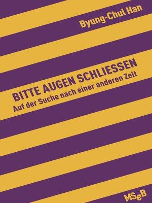 cover image of Bitte Augen schließen