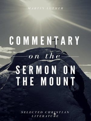 cover image of Commentary on the Sermon On the Mount