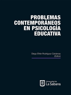 cover image of Problemas contemporáneos en psicología educativa