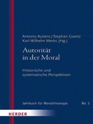 cover image of Autorität in der Moral