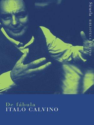 cover image of De fábula