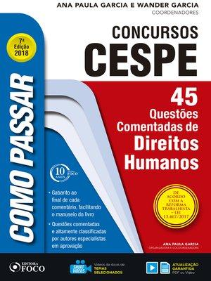 cover image of direitos humanos: 45 questões comentadas de direitos humanos