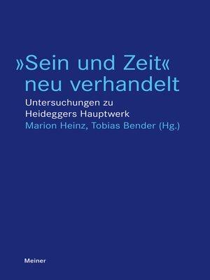 """cover image of """"Sein und Zeit"""" neu verhandelt"""