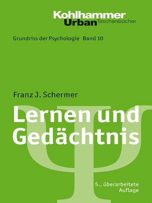 cover image of Lernen und Gedächtnis