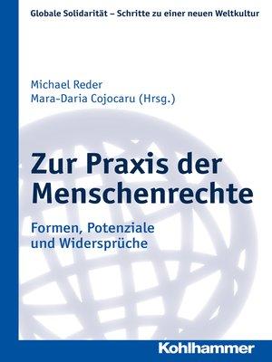 cover image of Zur Praxis der Menschenrechte