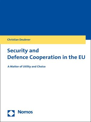 cover image of Security and Defence Cooperation in the EU
