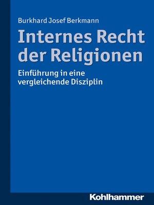 cover image of Internes Recht der Religionen