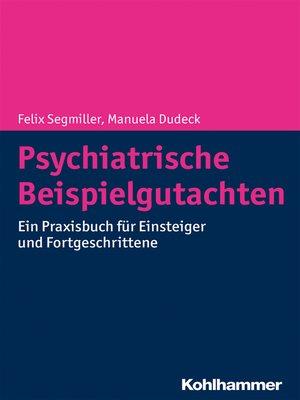 cover image of Psychiatrische Beispielgutachten