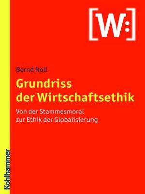 cover image of Grundriss der Wirtschaftsethik