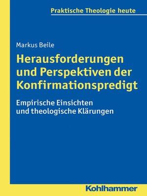 cover image of Herausforderungen und Perspektiven der Konfirmationspredigt