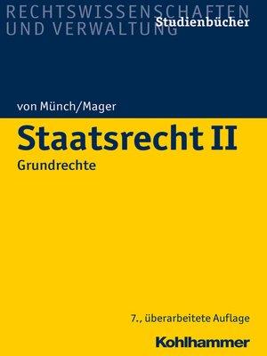 cover image of Staatsrecht II