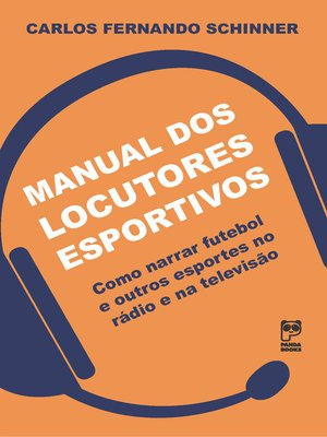 cover image of Manual dos locutores esportivos