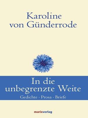 cover image of In die unbegrenzte Weite