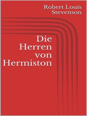 cover image of Die Herren von Hermiston
