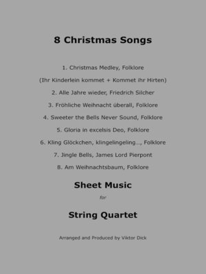 cover image of 8 Christmas Songs (String Quartet)
