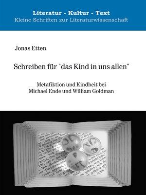 """cover image of Schreiben für """"das Kind in uns allen"""""""