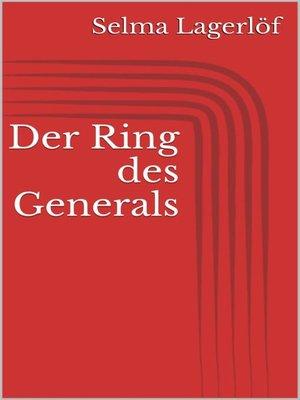cover image of Der Ring des Generals